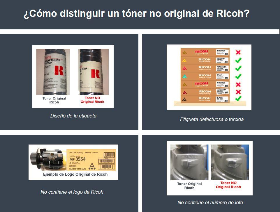 Cómo distinguir un tóner original Ricoh
